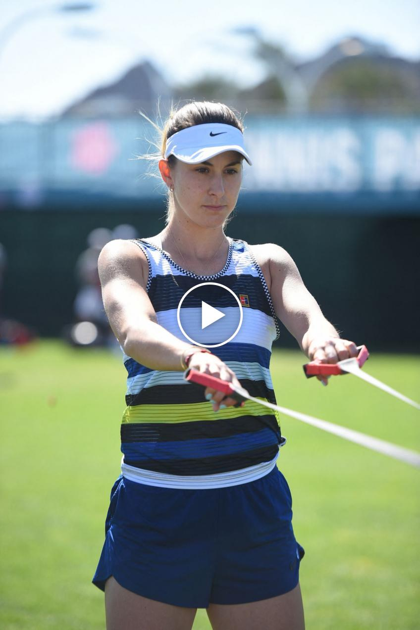 Belinda Bencic Trains at Home During the Quarantine