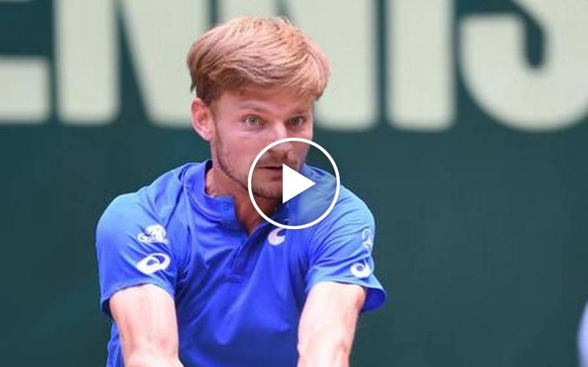 David Goffin Performs The Wave Dance