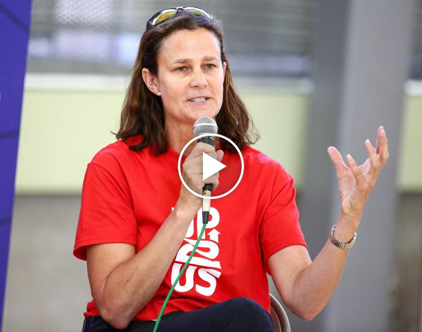 Pam Shriver Gives Fans a Virtual Tour of Her Trophies