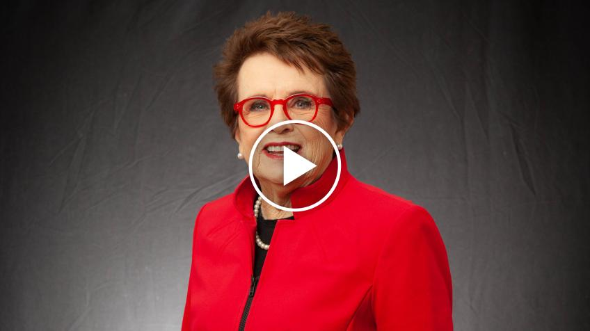 Billie Jean King Gives Tips On How to Improve Contact Point Indoors