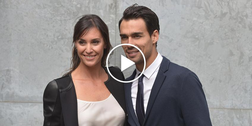 Flavia Pennetta and Fabio Fognini Play Tennis at Home