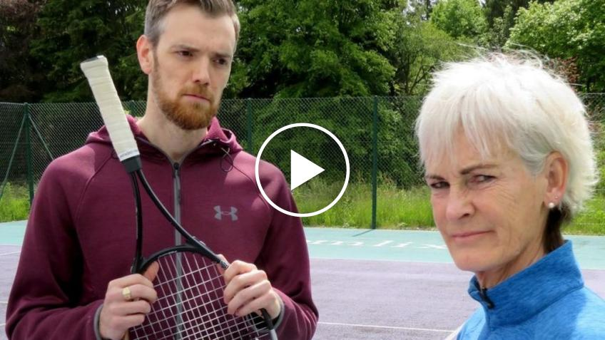 Judy Murray's Spoofs on Self Isolation with useless son Duncan Murray