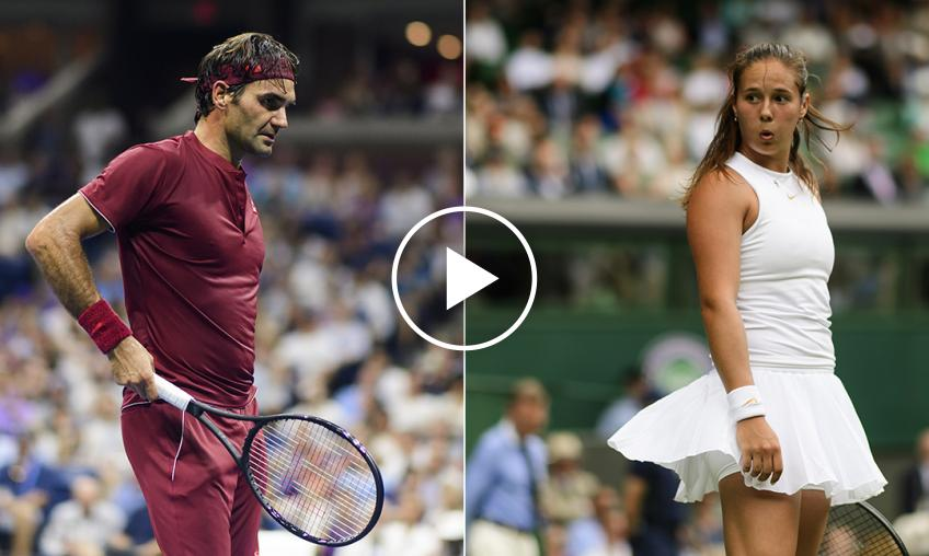Daria Kasatkina Practices Trick Shots the Way Roger Federer Does