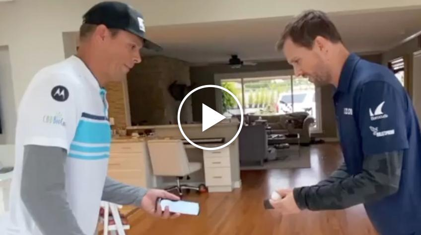Bryan Brothers Use Mobile Phones & A Ping Pong Ball to do the 100VolleyChallenge
