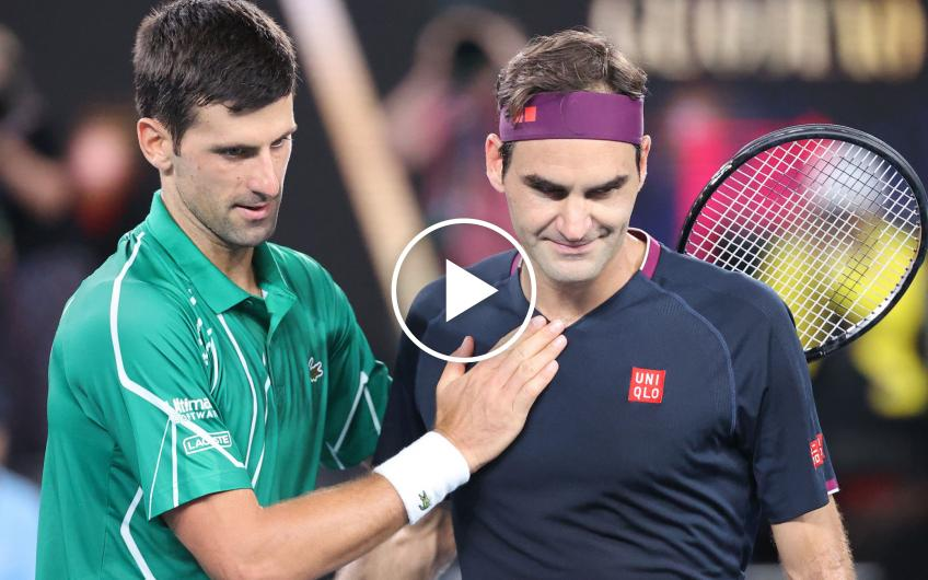 Roger Federer and Novak Djokovic's best shots and rallies ever
