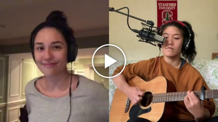 Kristie Ahn & Louisa Chirico cover Coldplay hit Yellow as part of fund raising effort