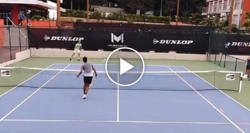 Highlights of Tsitsipas & Auger-Aliassime's training session