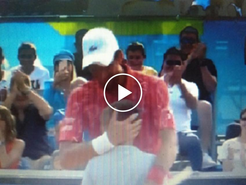 Watch a ball boy win a point against World No. 1 Novak Djokovic at the Adria Tour