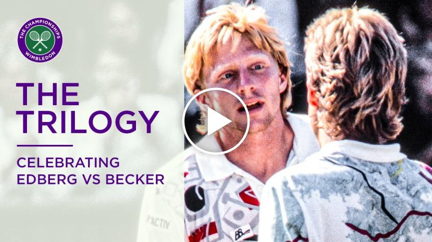 Wimbledon's recap of the Stefan Edberg and Boris Becker rivalry