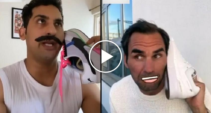 Watch an Indian comedian's latest video featuring Roger Federer