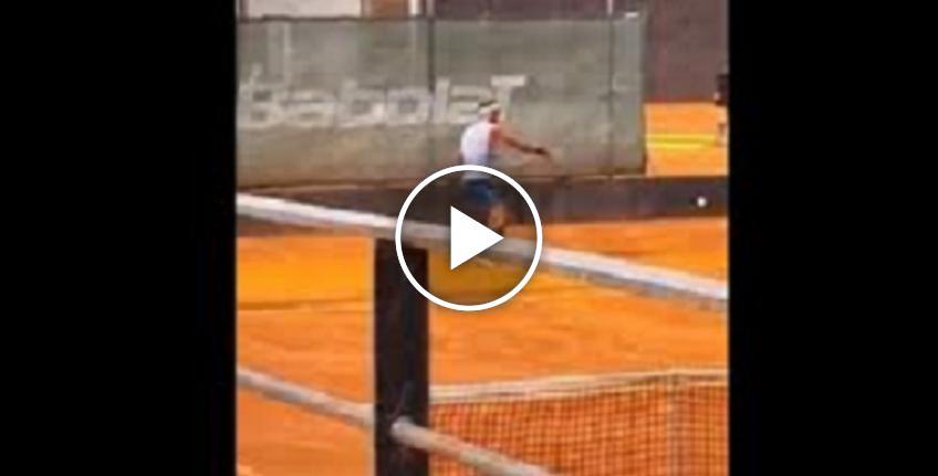 Rafael Nadal posts another video of his training session on social media