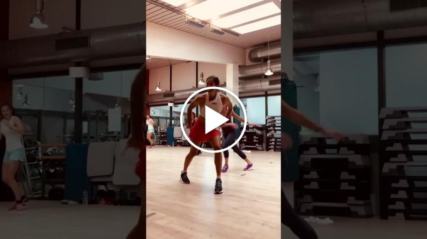 Garbine Muguruza's latest zumba video