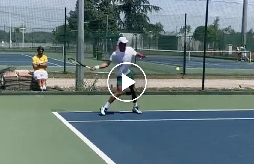 Even as Rafael Nadal trains on clay, Novak Djokovic is training on hardcourts