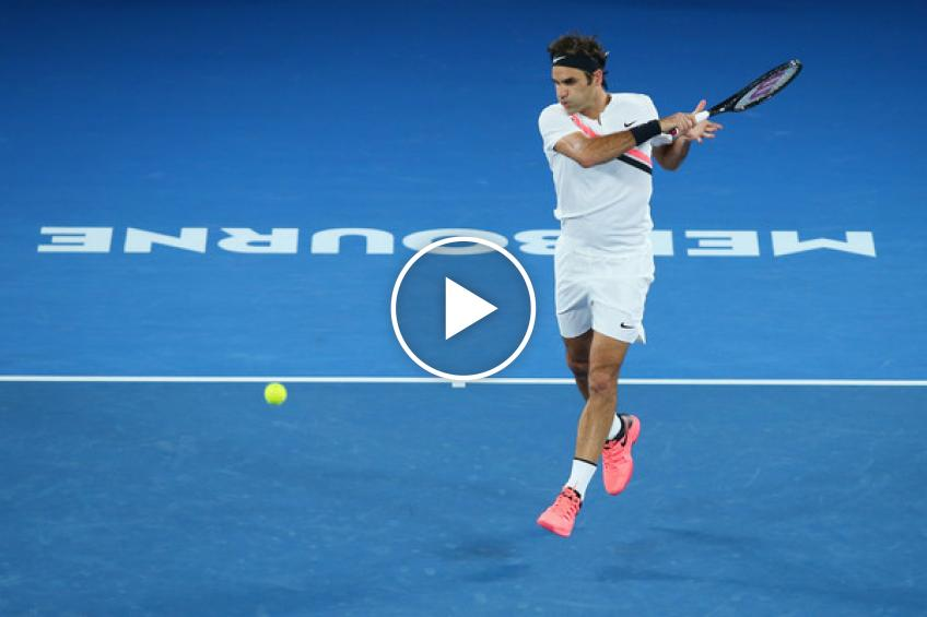 Roger Federer's tricks and magics