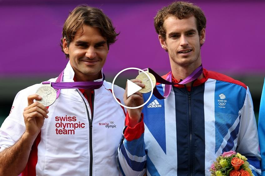 Andy Murray stunned Roger Federer to win his first amazing trophy