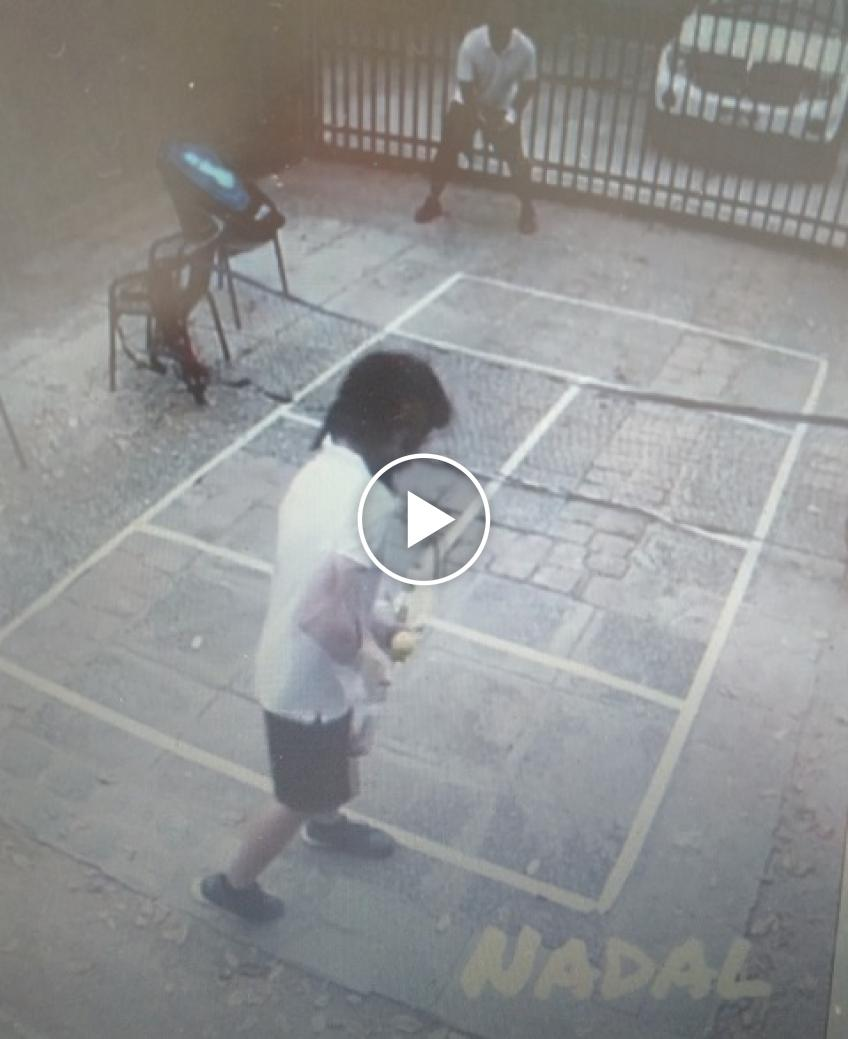 Watch a kid from Chile's hilarious impersonation of Rafael Nadal