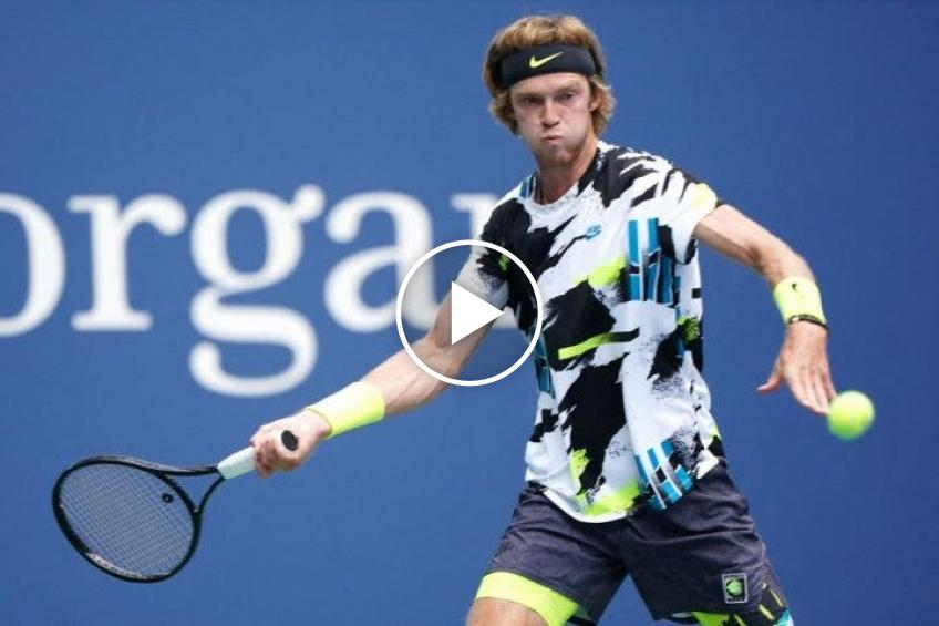 US Open 2020: an epic Rublev won a point with a BROKEN RACKET!