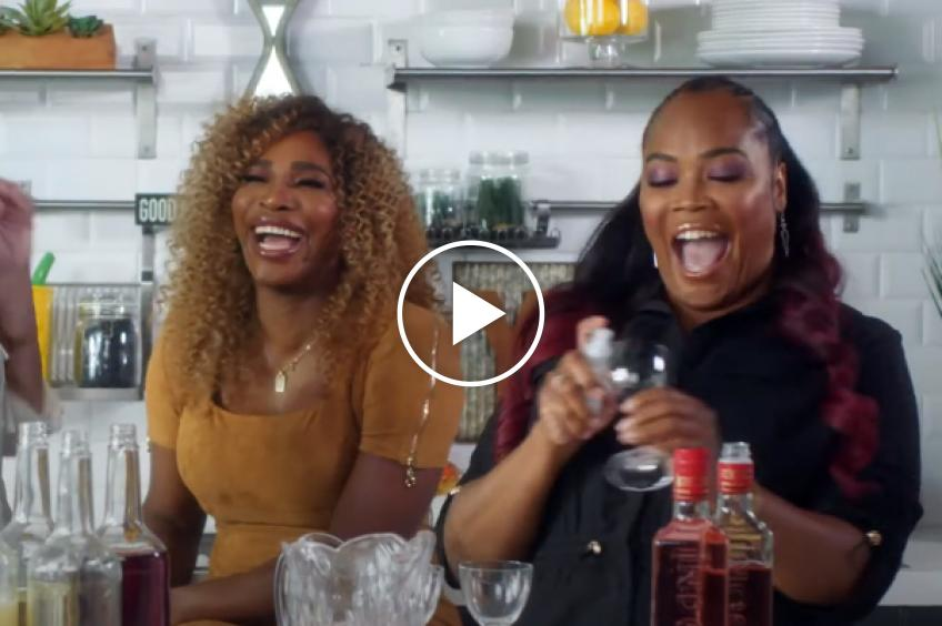 Serena Williams plays 'Never Have I Ever'