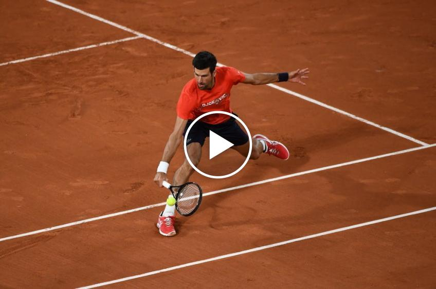 Roland Garros 2020: Novak Djokovic finally MADE A SUPER DROPSHOT!