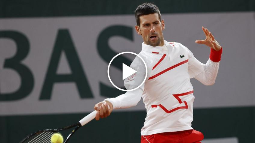 Roland Garros 2020: Novak Djokovic vs Mikael Ymer's highlights