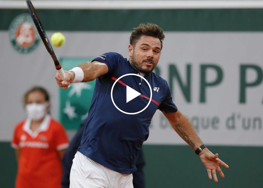 Roland Garros 2020: Stan Wawrinka vs Dominik Koepfer's highlights