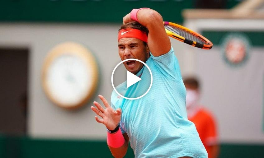 Roland Garros 2020: Rafael Nadal vs Jannik Sinner's highlights