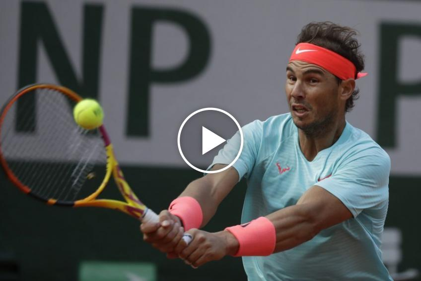 Roland Garros 2020: Nadal-Sinner's SIMPLY AMAZING BEST POINT!