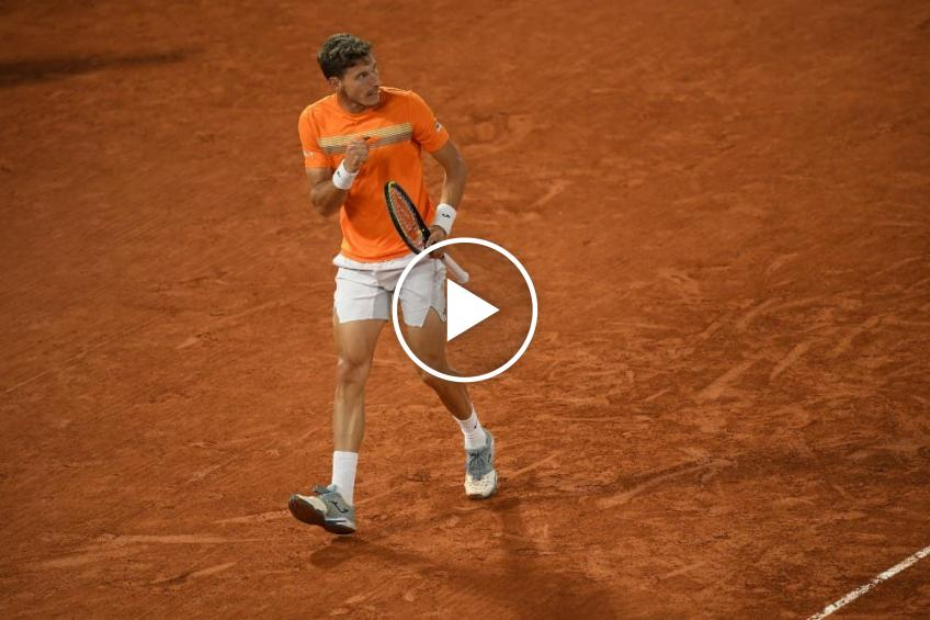 Roland Garros 2020: Pablo Carreno made a FINE net-shot to surprise Djokovic