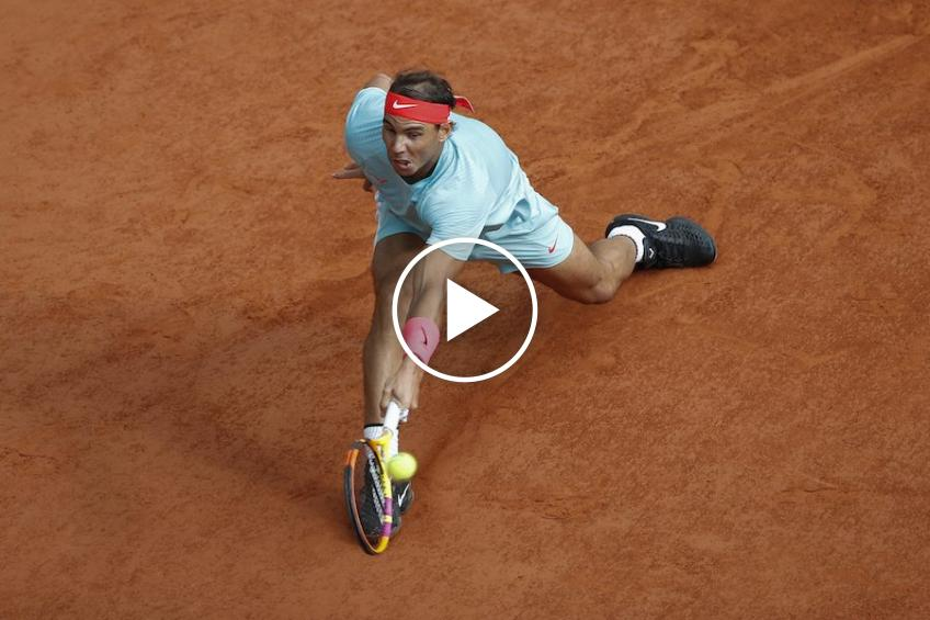 Roland Garros 2020: Rafael Nadal's VERY FINE net-point