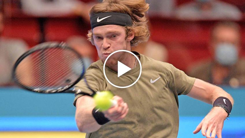 ATP Vienna: Andrey Rublev vs Dominic Thiem's MATCH-POINT