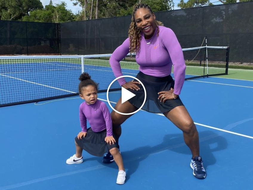 Serena Williams signed her daughter Olympia for tennis lessons!