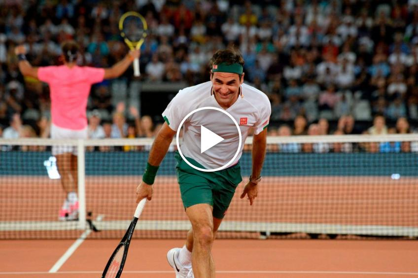 2020 memories: Roger Federer and Nadal in the Match for Africa 6
