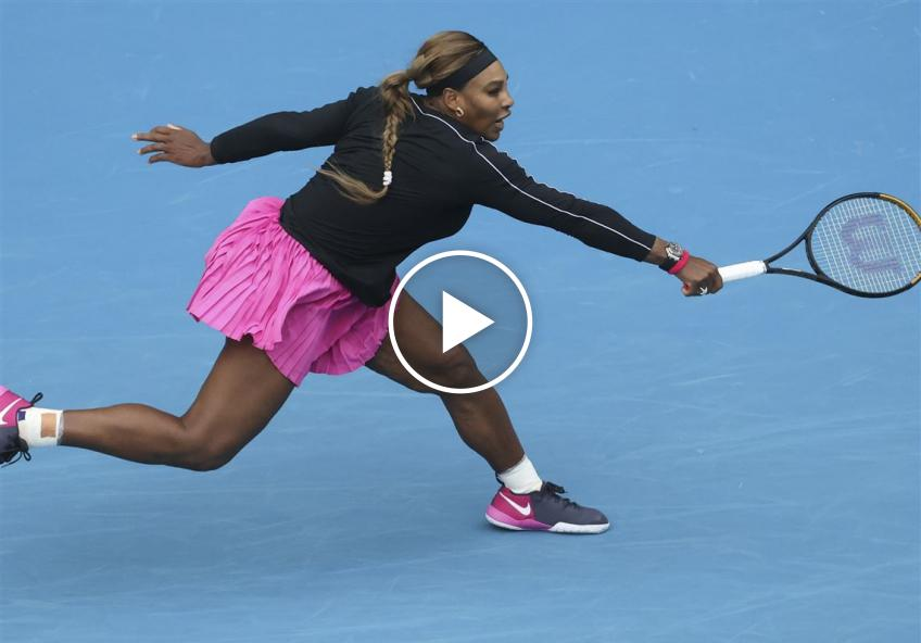 WTA Yarra Valley Classic: Serena Willims' UNBELIEVABLE backhand