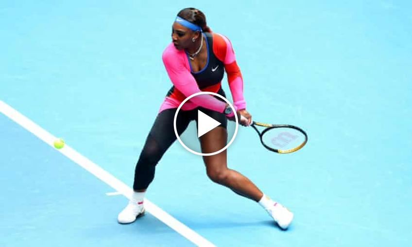 Australian Open 2021: Serena Williams vs Nina Stojanovic's HIGHLIGHTS
