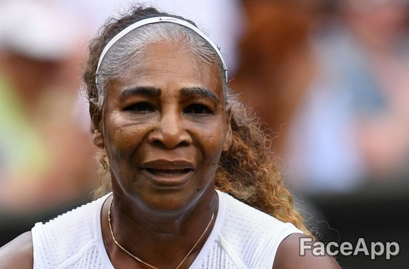 Tennis players aged with Face App