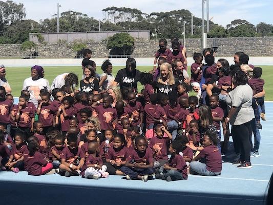 Match in Africa 6 - Federer & Nadal met children