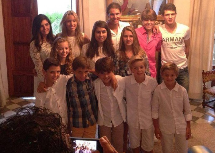 Rafael Nadal with his cousins
