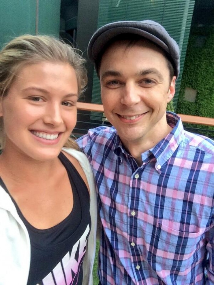 Photo of Eugénie Bouchard & her friend actor  Jim Parsons  - Tennis Events