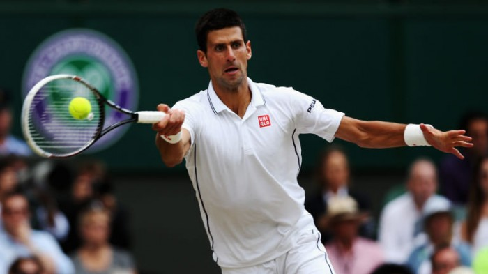 Novak Djokovic opens the third day´s play at the Championships on Wednesday