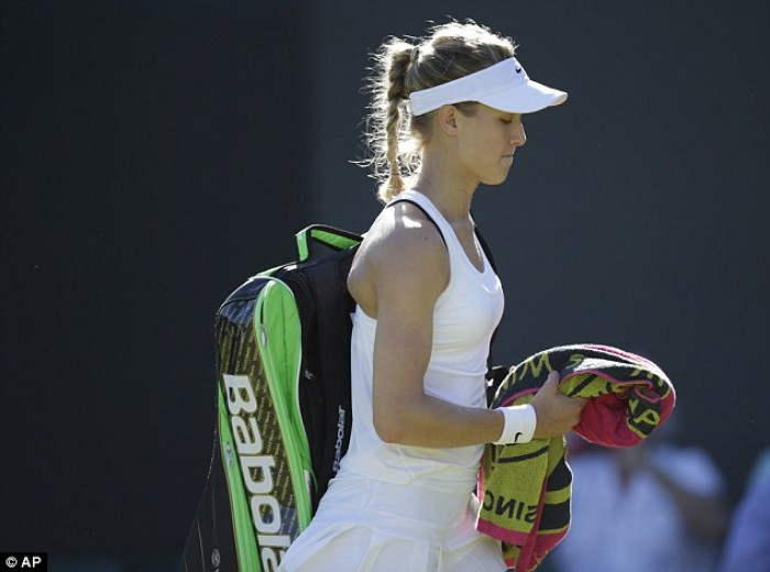 Eugenie Bouchard Caught by Wimbledon White Fashion Police