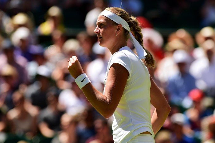 Petra Kvitova routed Kurumi Nara in her second round match