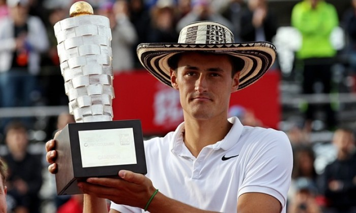 Tomic with the Copa Claro Title
