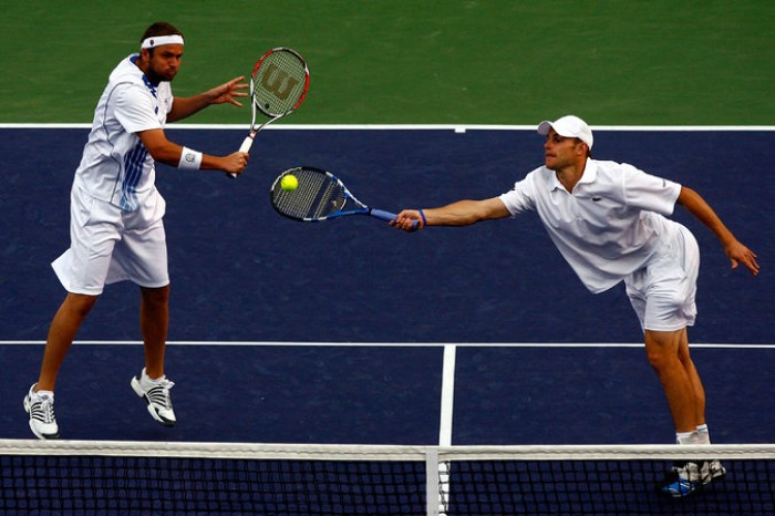 Roddick with Fish playing doubles
