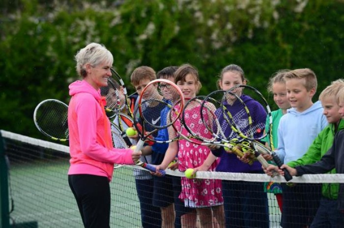 School kids in Scotland learn tennis thanks to Judy Murray