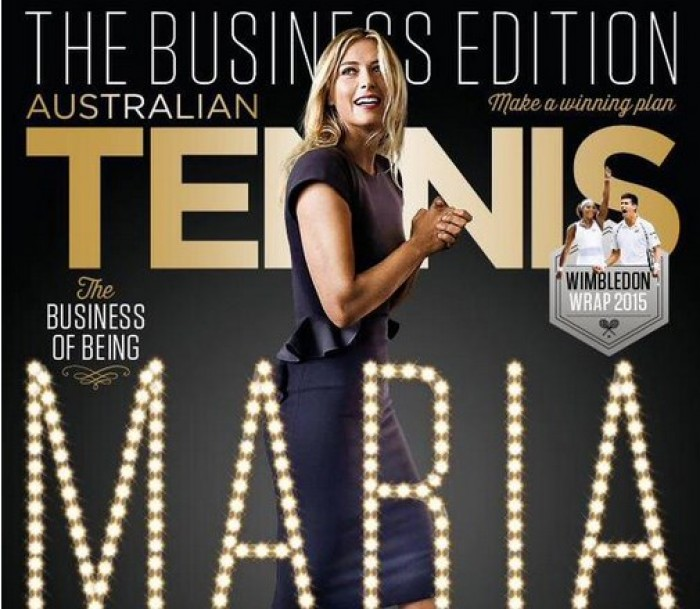 Maria Sharapova Features on the Cover Page of Australian Tennis Magazine