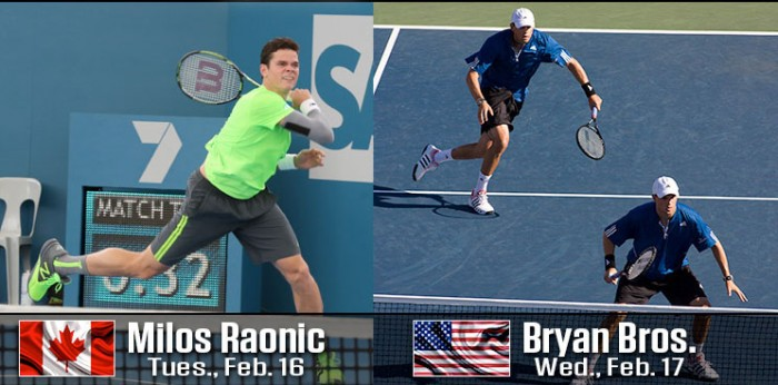 TOP TENNIS: MILOS RAONIC & BRYAN BROTHERS TO PLAY ´16 DELRAY BEACH OPEN