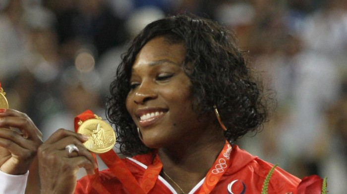 Serena with the Olympic Gold Medal