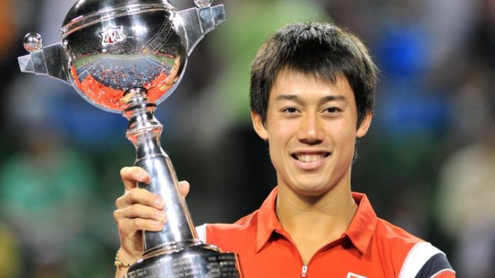 The 27-year old son of father Kiyoshi Nishikori and mother Eri Nishikori, 178 cm tall Kei Nishikori in 2017 photo