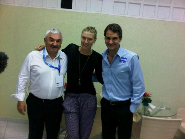 Maria Sharapova and Roger Federer