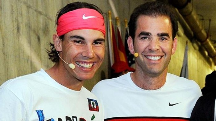 Rafael Nadal and Pete Sampras
